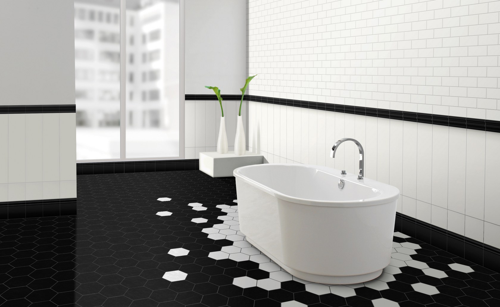 Black and white tile floor black and white porcelain floor tile extro white ceramic tile supplies dailygadgetfo Gallery