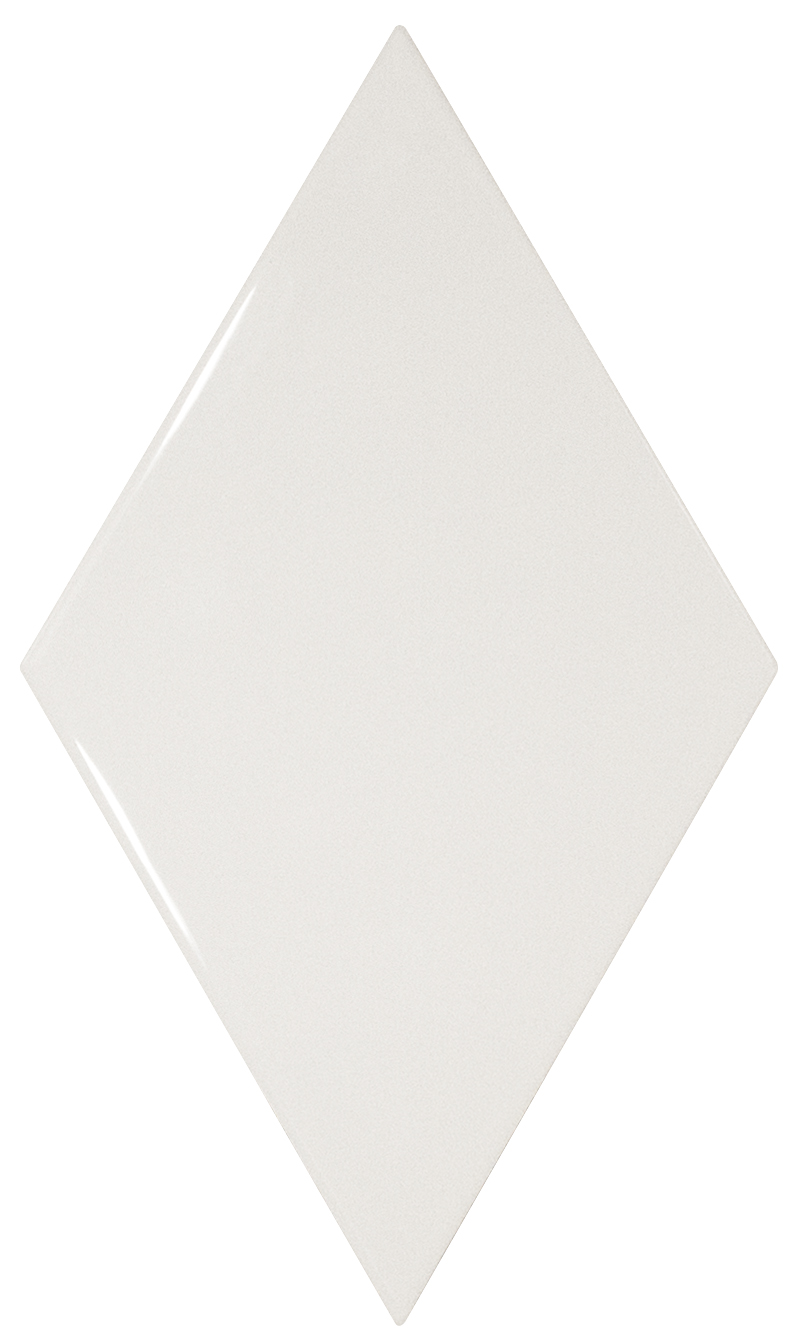 Rhombus White Gloss Ceramic Tile Supplies