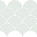 Scale Fan White Mosaic perth