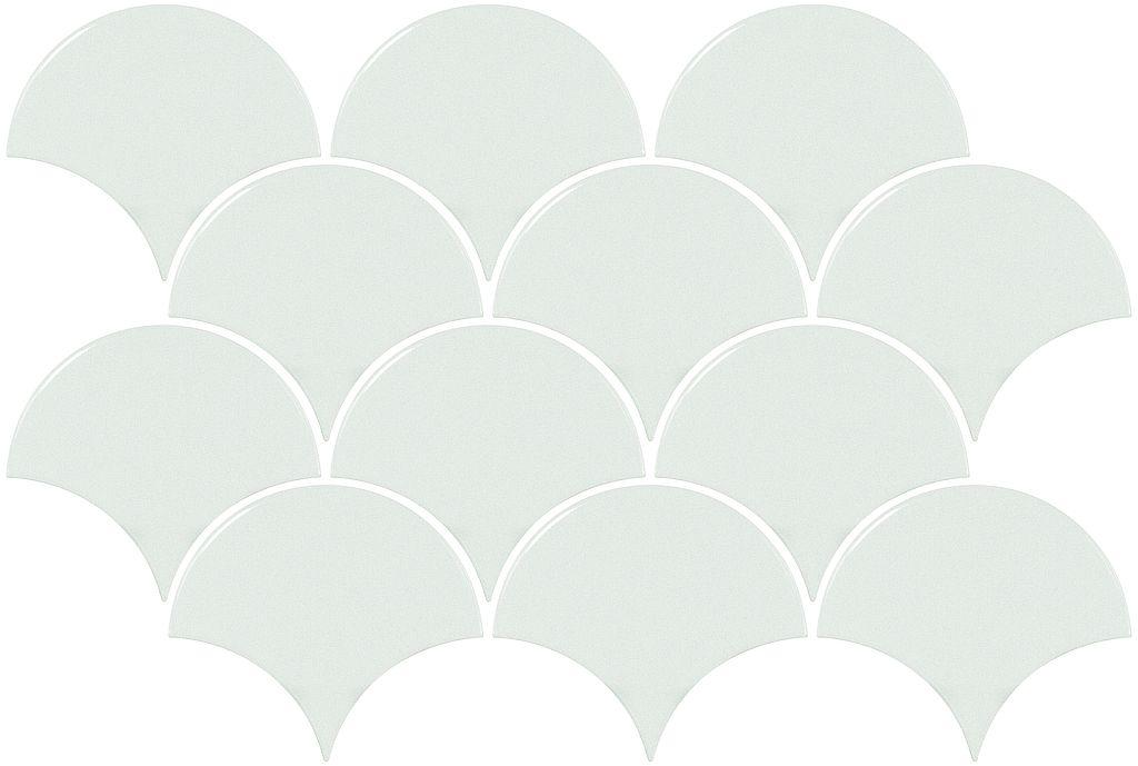 Scales White Gloss Mosaic Ceramic Tile Supplies