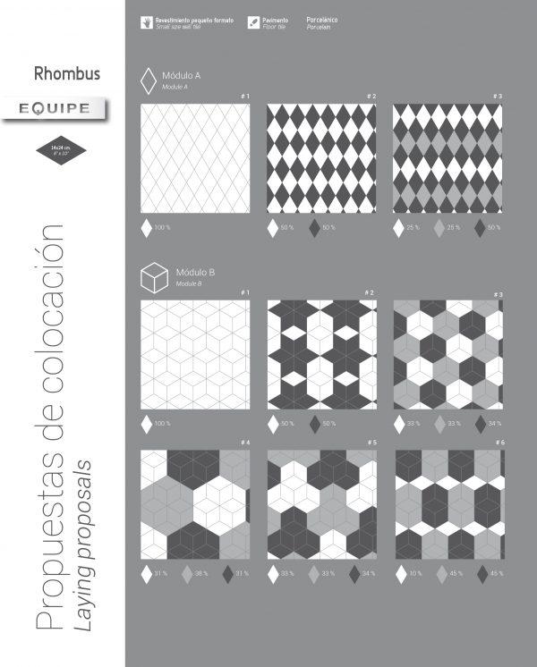 Rhombus Dark Grey Gloss 14
