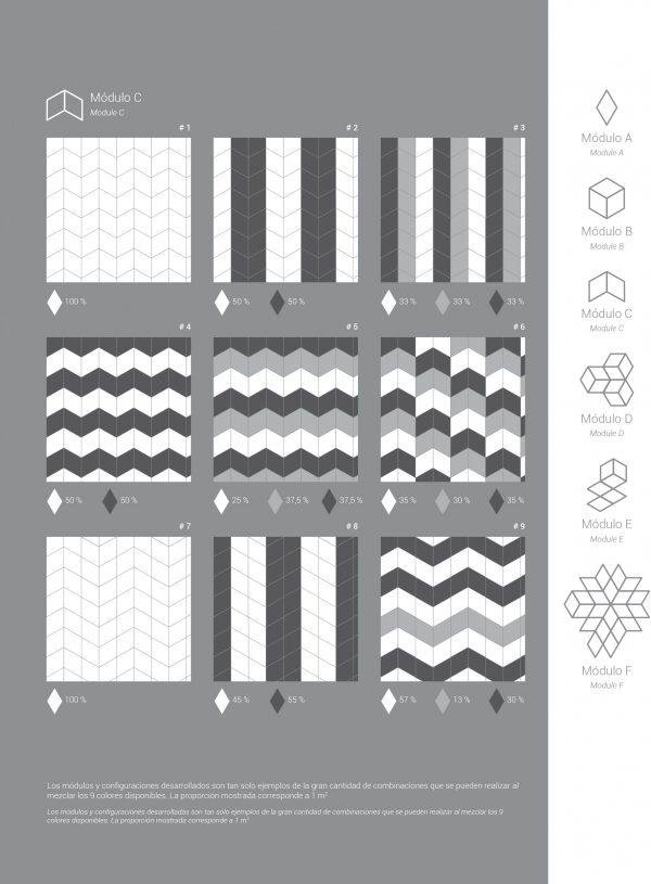Rhombus Dark Grey Gloss 15