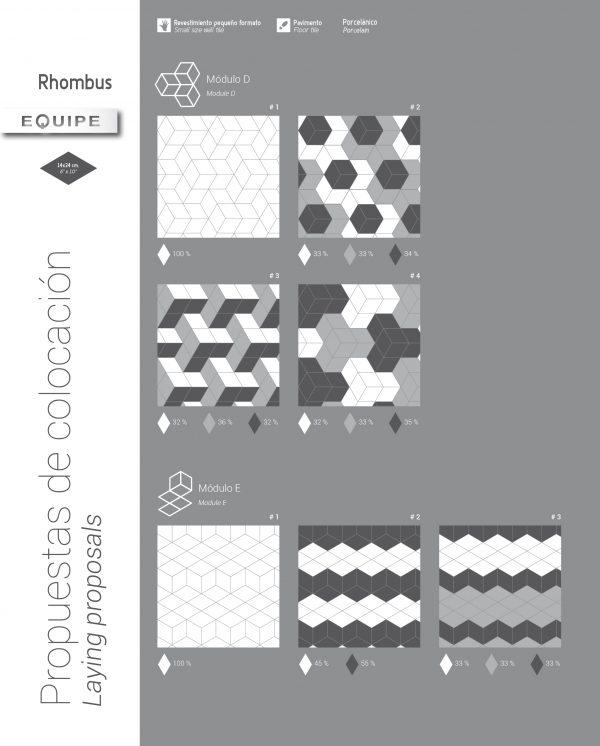 Rhombus Dark Grey Gloss 12