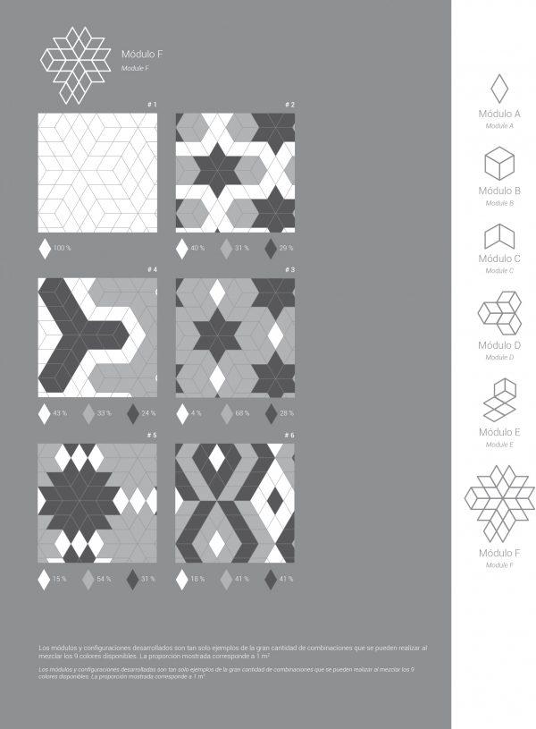 Rhombus Dark Grey Gloss 13