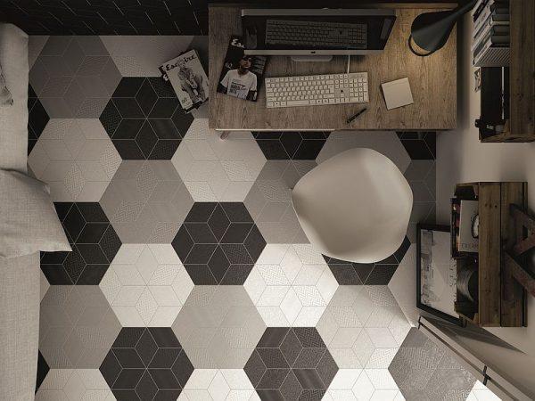 Rhombus Dark Grey Gloss 11
