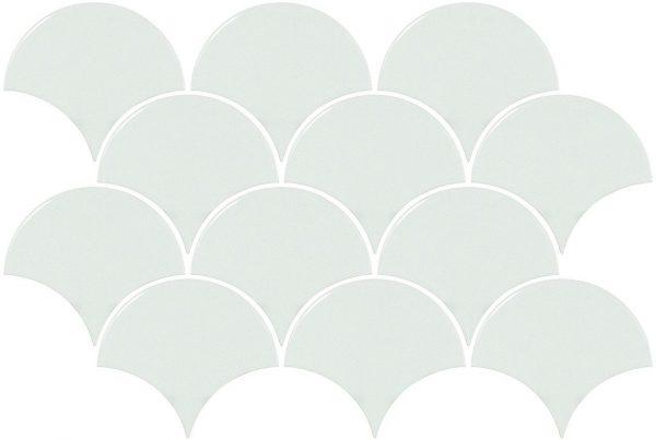 Scales White Gloss Mosaic 1