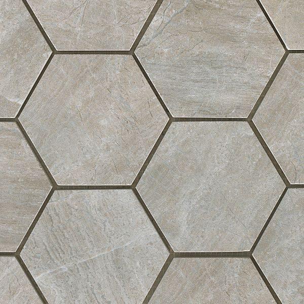 Mystone Grey Hexagonal Mosaic 1