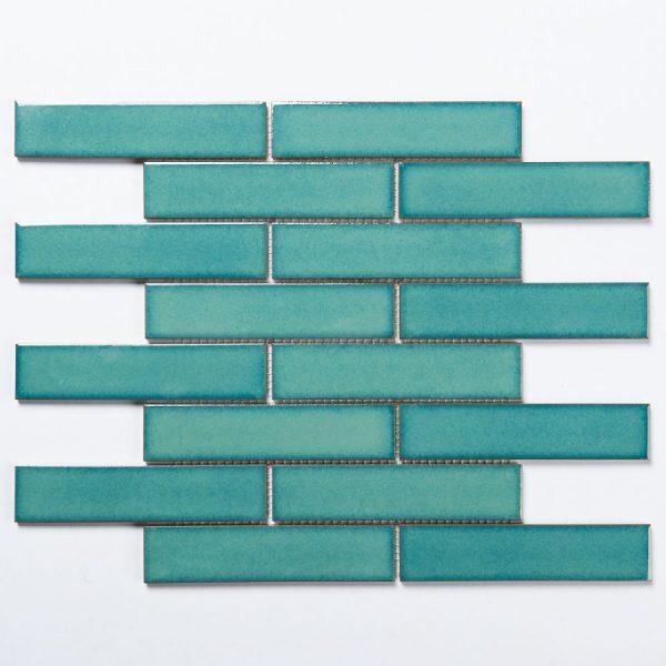 Brick Crystal Green Gloss Mosaic 1