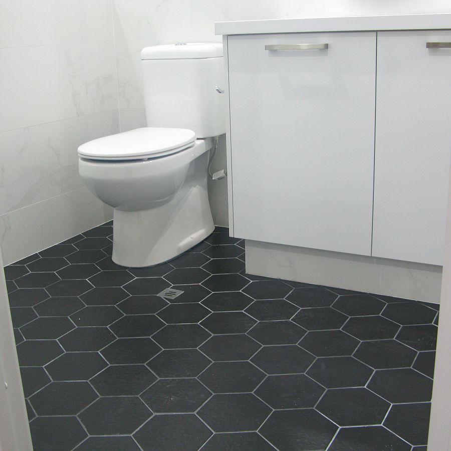 Hexagonal Black Matt Ceramic Tile Supplies