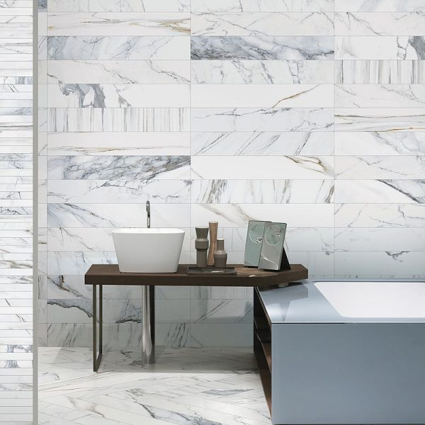 Colli Scot Bianco marble look tiles Perth 5