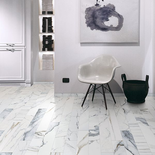 Colli Scot Bianco marble look tiles Perth