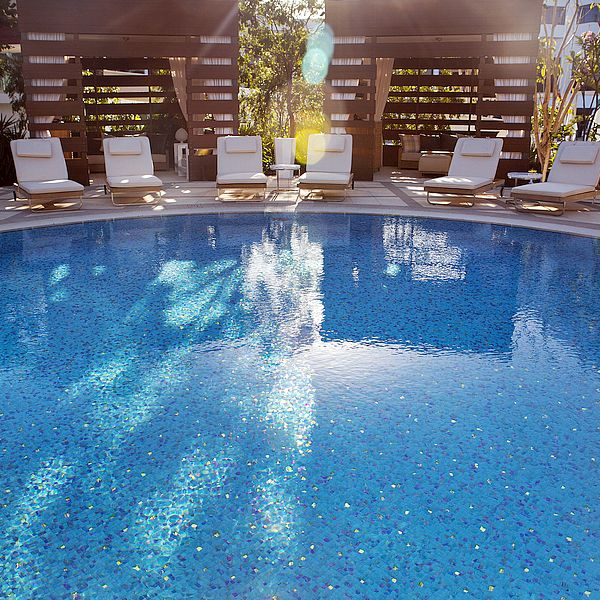 Crown Resort Perth, Western Australia swimming pool glass mosaics by www.ctsupplies.com.au 6