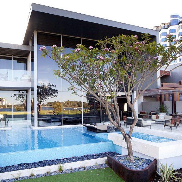 Crown Resort Perth, Western Australia swimming pool glass mosaics by www.ctsupplies.com.au 9