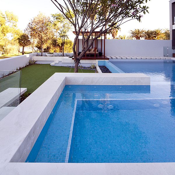 Crown Resort Perth, Western Australia swimming pool glass mosaics by www.ctsupplies.com.au Vitreo 122