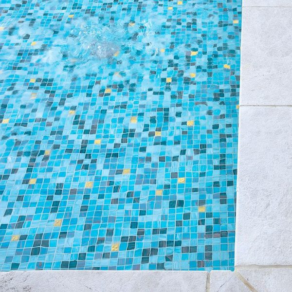 Crown Towers custom blue mix with gold glass mosaic perth by www.ctsupplies.com.au 7