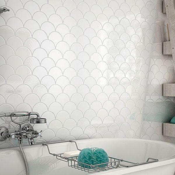 Scales White Gloss Mosaic 2