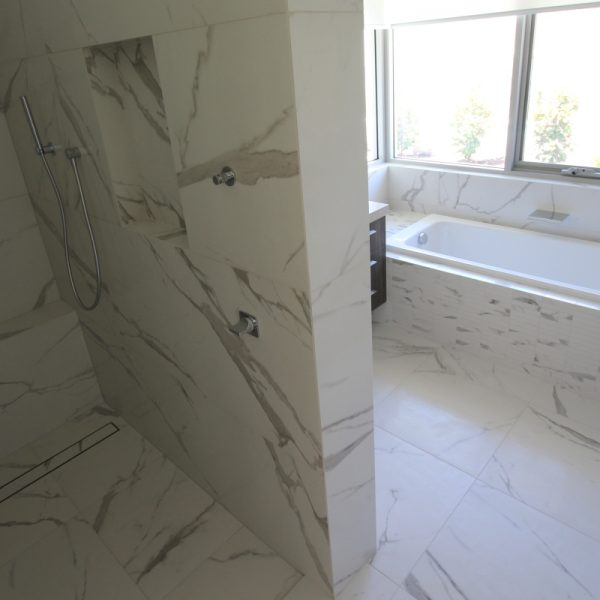Vallenlunga Statuario marble look bathroom tiles perth 3