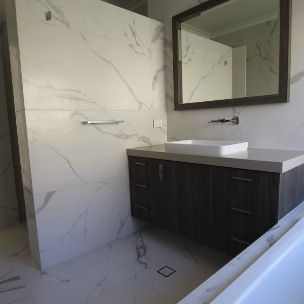 Vallenlunga Statuario marble look bathroom tiles perth 6
