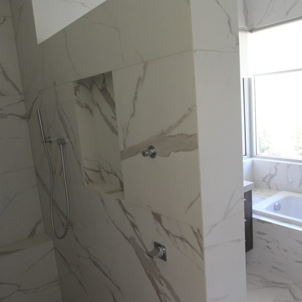Vallenlunga Statuario marble look bathroom tiles perth