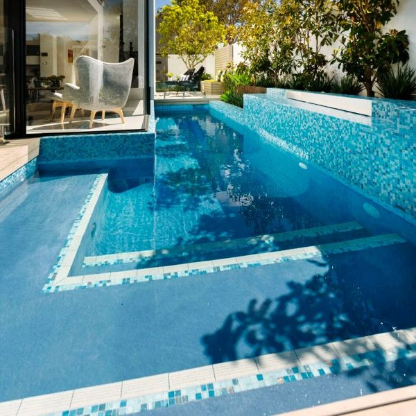 Custom Mix swimming pool glass mosaics perth WBN