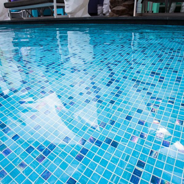 Matisse Beach Club swimming pool glass mosaics by www