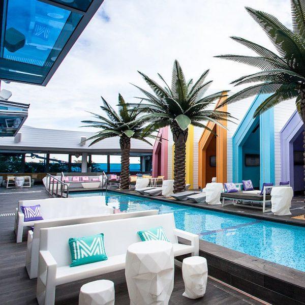 Matisse Beach Club swimming pool glass mosaics by www
