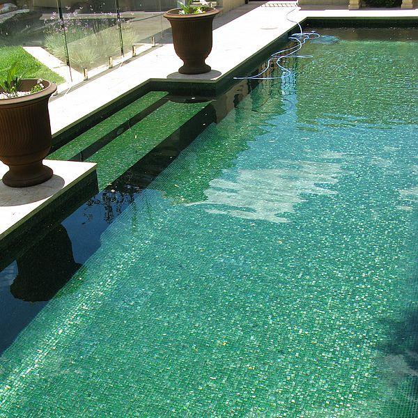 Trend Brillante 236 green swimming pool glass mosaics Perth 3