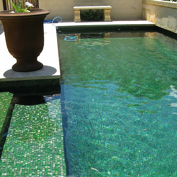 Trend Brillante 236 green swimming pool glass mosaics Perth 5
