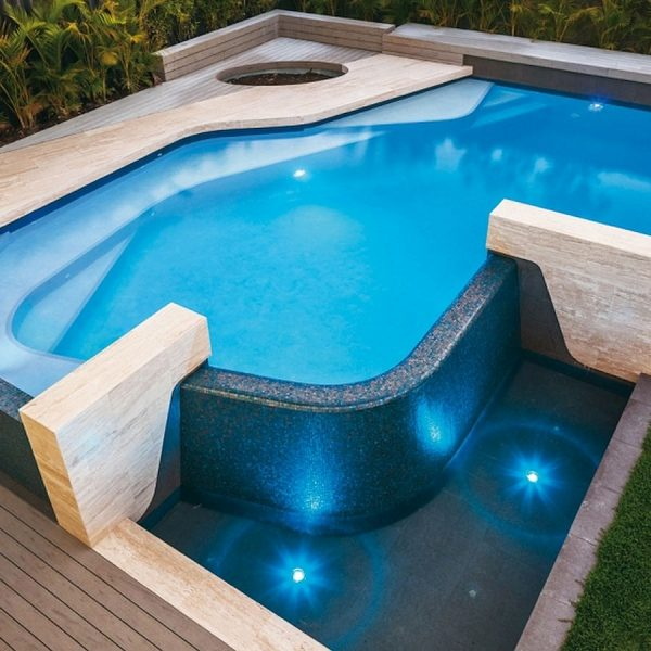 Trend Brillante 245 luxury swimming pool glass mosaics Perth by www