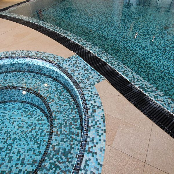 Upper Eastside Apartments fully tiled swimming pool by www
