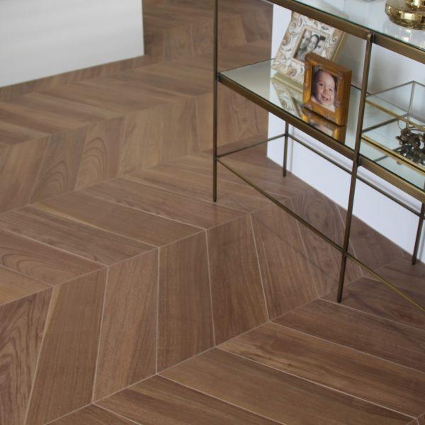 Supergres Prive Ambre Spina Chevron shape tiles perth