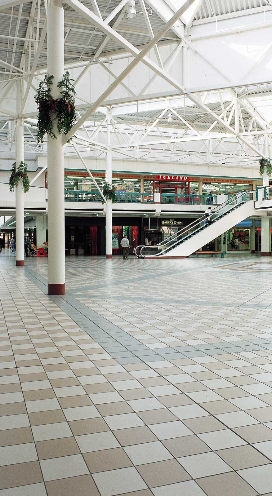 slip resistant tiles in shopping centre