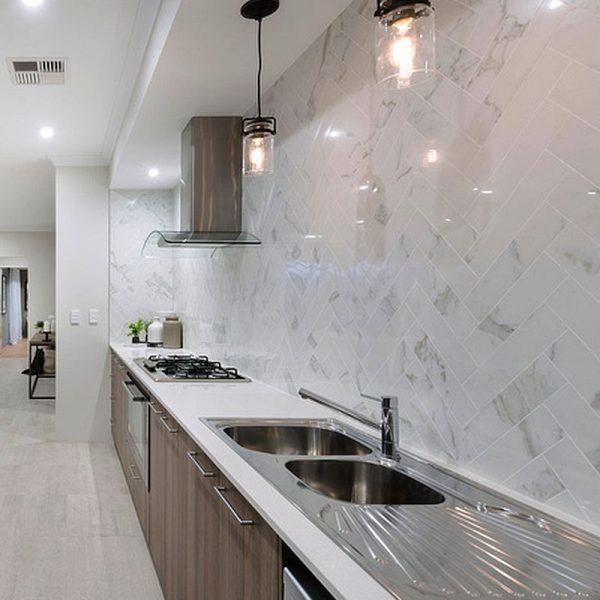 Muse Calcautta Polished Brick kitchen splashback tiles Perth