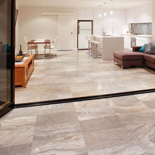 Silver Blue Crosscut Travertine perth 2