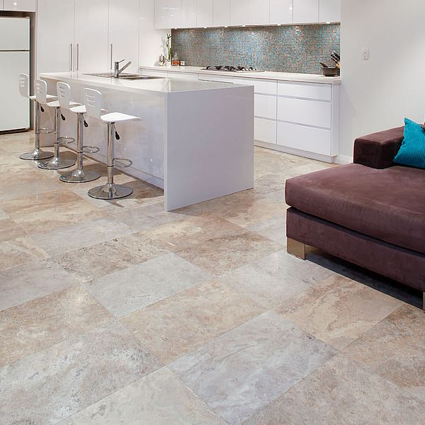 Silver Blue Crosscut Travertine perth