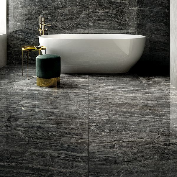 Unicom Cosmic Black Bathroom Floor Wall Tiles Perth 8